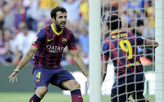Cesc Fábregas, Alexis Sánchez, Barcelona v Levante - Liga BBVA
