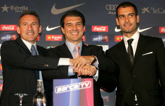 Barcelona President Joan Laporta Stresses Importance Of New Contract For Pep Guardiola
