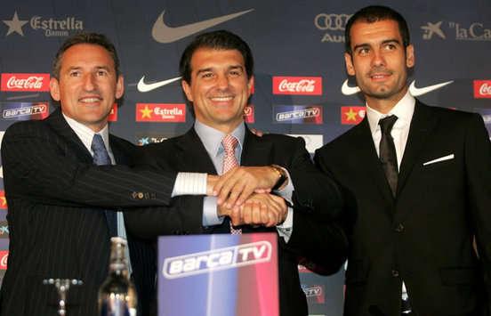 Begiristain - Laporta - Guardiola - Barcelona (Marca)