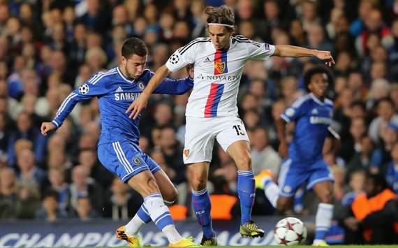 UEFA Champions League_Chelsea v FC Basel, Eden Hazard, Kevin De Bruyne