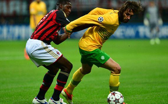Cristian Zapata, Giorgos Samaras Milan Celtic Champions League