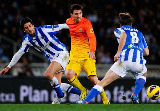 Lionel Messi a été remplacé à 10 minutes du terme de la rencontre face à la Real Sociedad