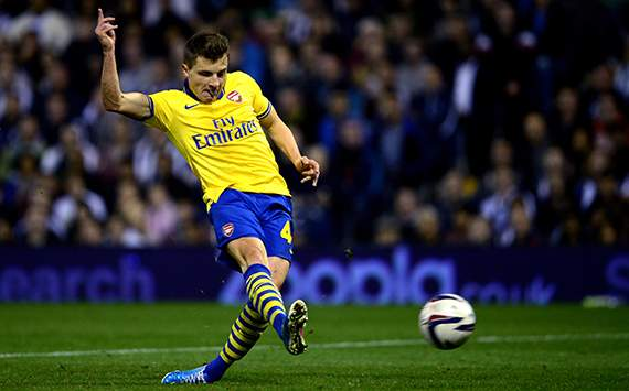 Thomas Eisfeld, West Bromwich Albion v Arsenal - Capital One Cup