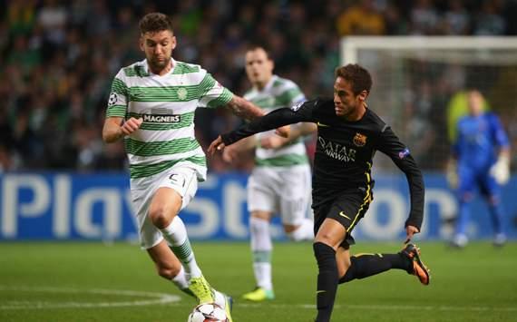 Neymar,Charlie Mulgrew,Celtic v FC Barcelona - UEFA Champions League