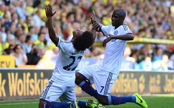 Willian Ramires Norwich Chelsea Premier League 06102013