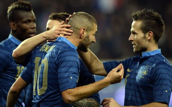 Oh Happy Day, the drought is over! 1,222 minutes later, Karim Benzema finally scores for France, with the 6th v Australia