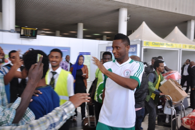 In Pictures: The Super Eagles arrive Addis Ababa