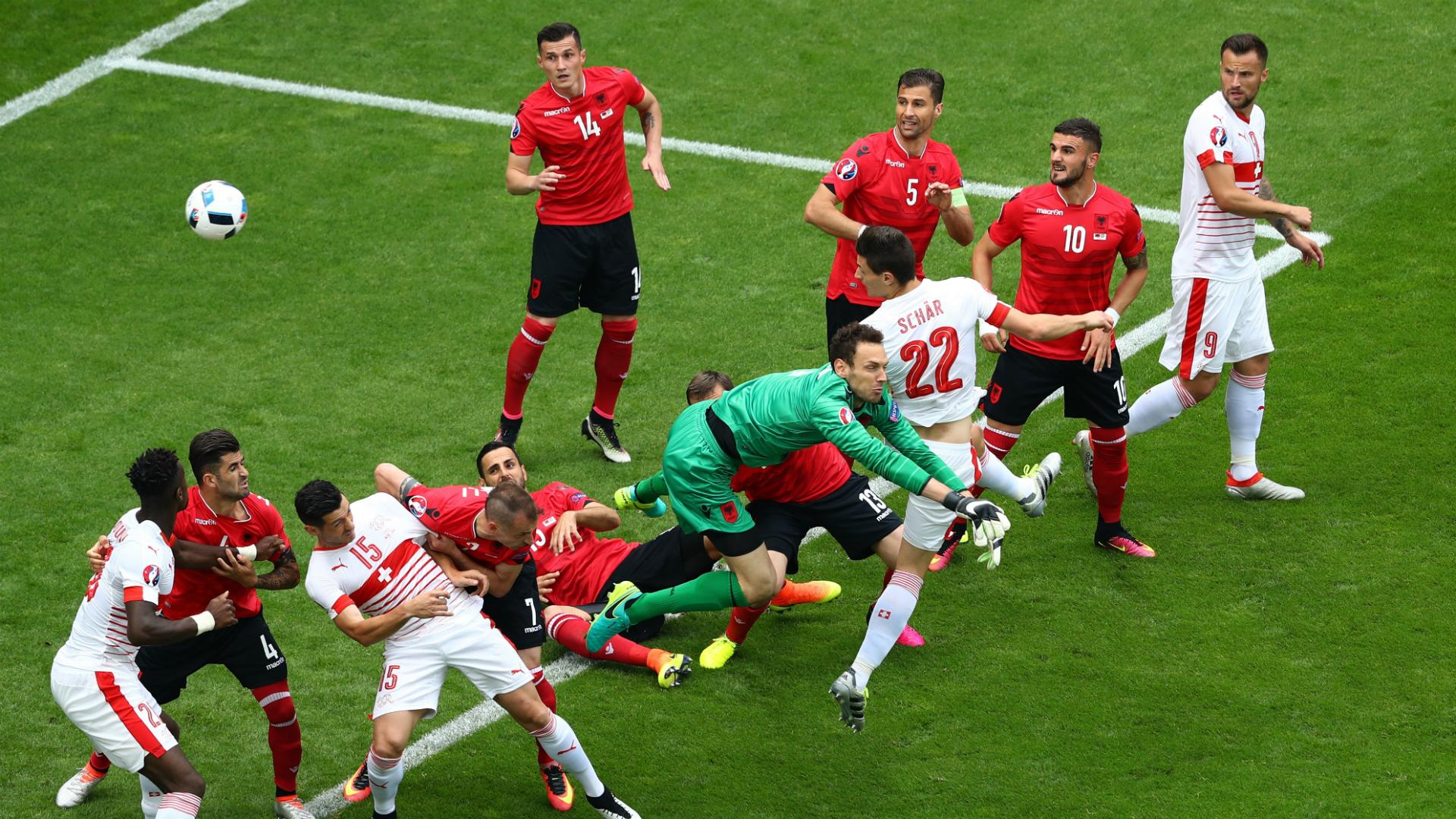 Albania Vs Switzerland Schar Wins It For The Swiss