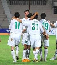 Turkmenistan celebrate third goal against Afghanistan at AFC Challenge