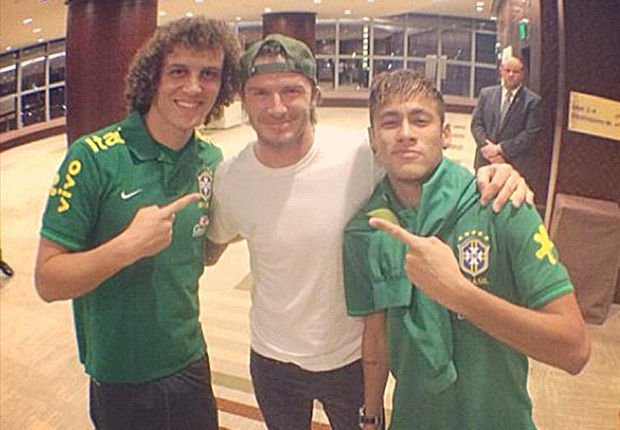 n Pictures: Beckham meets Neymar & friends at Brazil's Miami hotel