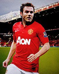 Juan Mata in Manchester United Jersey