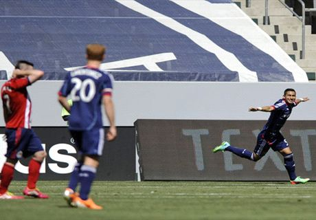 Joya celebrates his debut MLS goal