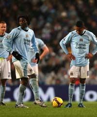 EPL: De Souza Robinho and Benjani Mwaruwari, Manchester City v Tottenham Hotspur (PA)