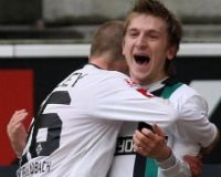 Bundesliga: Borussia Mönchengladbach - Hannover 96, Marko Marin, Michael Bradley (firo)