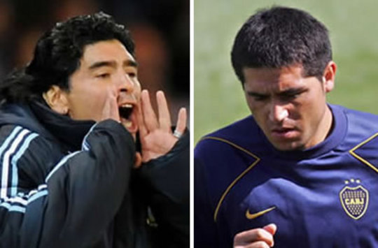 "Maradona: ""No soy amigo de Riquelme"""