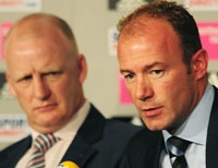 Alan Shearer and Iain Dowie - Newcastle United (PA)
