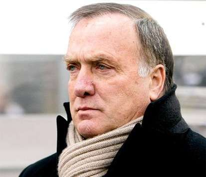 Zenit coach Dick Advocaat watches his side in action in the Russian Premier League