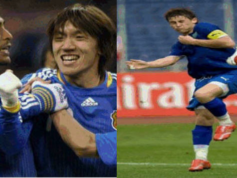 World Cup Fan-Vs-Fan: Uzbekistan - Japan - Goal.