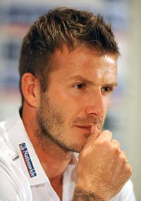 Press conference: David Beckham - England (PA)