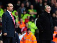 EPL: Rafael Benitez - Alex Ferguson, Liverpool - Manchester United (Getty Images)