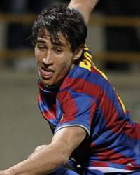 Striker Bojan Krkic in action in Barcelona (MAKE)