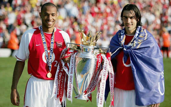 Thierry Henry, Robert Pires - Arsenal Premier League Champions 2004 (Getty Images)