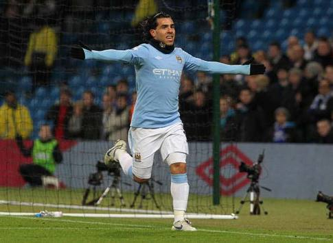 EPL: Carlos Tevez, Manchester City - Blackburn Rovers (Getty Images)