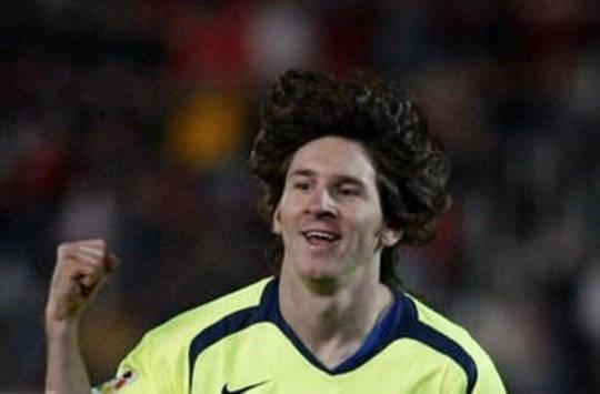 Lionel Messi celebrates for Barcelona (AFP)