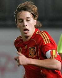 Sergio Canales, en acción con la camiseta de España (Getty Images)