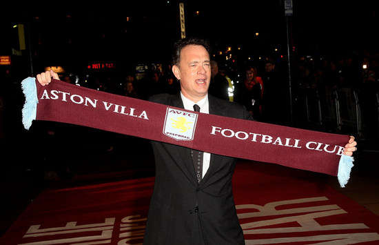 Tom Hanks gives his backing to Aston Villa manager Lambert