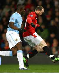 CC: Micah Richards - Wayne Rooney , Manchester United v Manchester City (Getty Images)