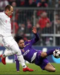 Champions League: Bayern Munich - AC Fiorentina, Arjen Robben - Juan Vargas (Getty Images)