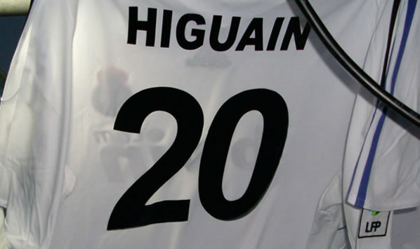 La camiseta número 20 de Gonzalo Higuaín en el Real Madrid (Goal.com)