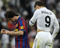 Lionel Messi, Cristiano Ronaldo, Real Madrid, Barcelona (Getty Images)