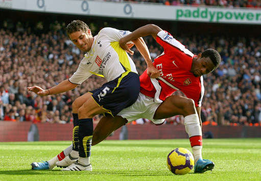 David Bentley- Abou Diaby - Tottenham Hotspur  - Arsenal (Getty Images)