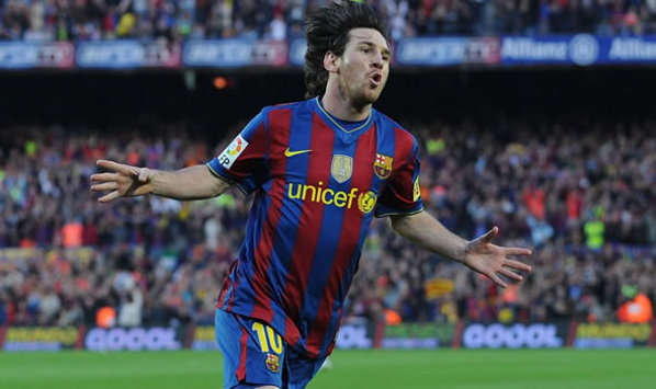 Leo Messi in full flight as Barcelona win La Liga against Valladolid (Getty Images)