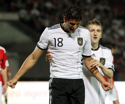 Germany  Hungary: Mario Gomez, Marko Marin (Getty Images)