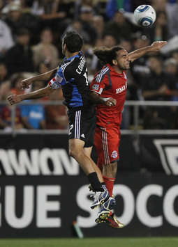 Dwayne De Rosario, Toronto FC; Ramiro Corrales, San Jose Earthquakes; MLS (Getty)