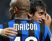 Maicon, Diego Milito - Inter (Getty Images)